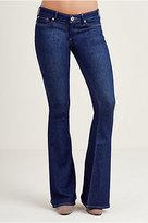 True Religion Karlie Low Rise Bell Bottom Womens Jean