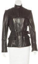 Elie Tahari Leather Belted Jacket w/ Tags