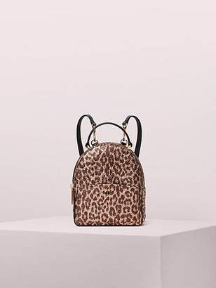 Kate Spade Amelia Metallic Leopard Mini Convertible Backpack