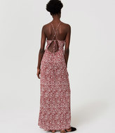 LOFT Beach Floral Strappy Halter Maxi Dress
