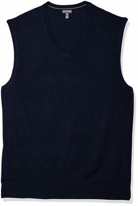 Van Heusen Men's Big and Tall Solid Jersey Sweater Vest