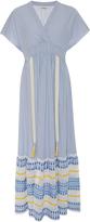 Lemlem Mwali Blue Ruffle Hem Dress