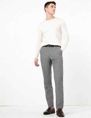 Marks and Spencer Big & Tall Regular Fit Puppytooth Trousers