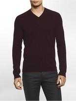 Calvin Klein Platinum Cashmere V-Neck Sweater