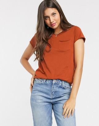 Brave Soul fresha rust t shirt