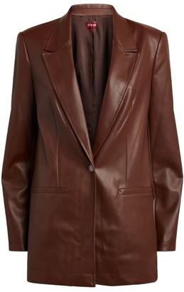 STAUD Faux Leather Madden Blazer
