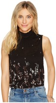 Lucky Brand Mock Neck Floral Top Women's Sleeveless