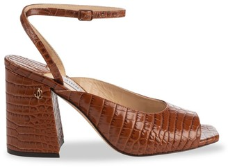 Jimmy Choo Jassidy Croc-Embossed Leather Sandals