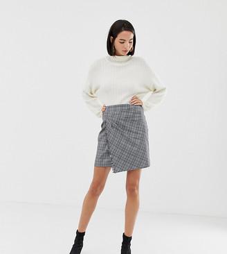Esprit Checked Flare Mini Skirt