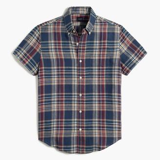 J.Crew Short-sleeve linen-cotton slim casual shirt