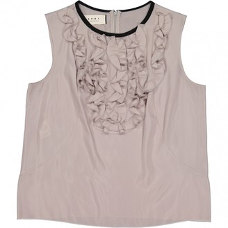 Marni Grey Silk Top for Women