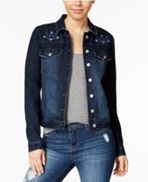 Tinseltown Juniors' Embroidered Denim Jacket