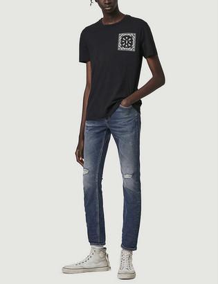 AllSaints Cigarette skinny-fit distressed jeans