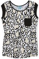Liz Lange Women's Shirt-Tail Hem Shirt With Woven Trim