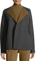 Lafayette 148 New York Oriana Two-Tone Double-Faced Jacket