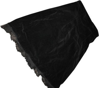 Chantal Thomass Black Velvet Skirt for Women