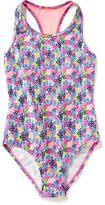 Old Navy Floral Mesh-Back Swimsuit for Girls