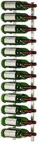VintageView Wall Mount 24 Bottle Wine Rack in Nickel