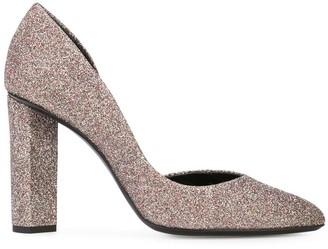 Pierre Hardy Glitter Block Heel Pumps