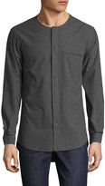 Shades of Grey by Micah Cohen Men's Solid Collarless Sportshirt