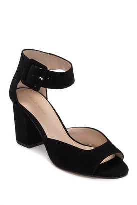 Pelle Moda Bijou Suede Block Heel Sandal