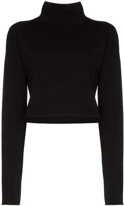 Helmut Lang cropped turtle-neck jumper