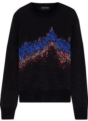Rag & Bone Verity Sonar Jacquard-knit Sweater