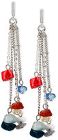 Kenneth Cole New York Silver-Tone Beaded Chain Drop Earrings