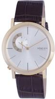 Johan Eric Randers Gold-tone Steel Silver Sunray Dial Watch