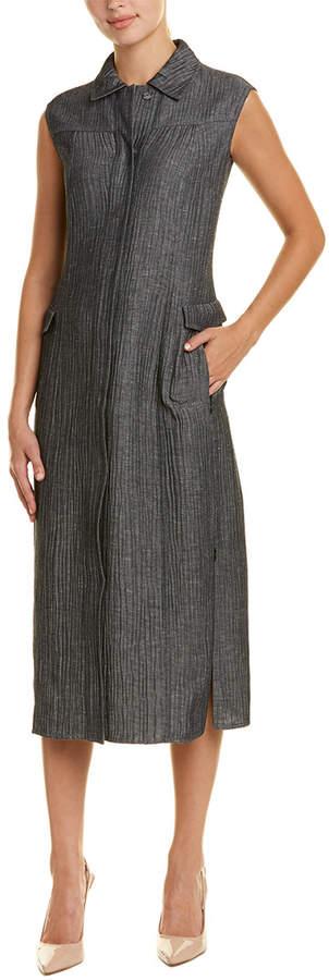 Akris Wool & Linen-Blend Shirtdress