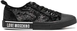 Love Moschino Lace-Up Low-Top Trainers