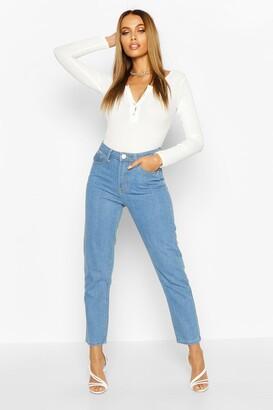 boohoo Light Blue Straight Leg Jean