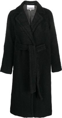 Ganni Belted Mid-Length Coat