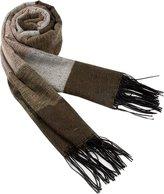 Driew Mens Soft Winter Warm Thick Striped Scarf Cashmere Tassels Wrap Shawls