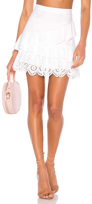 BCBGeneration Ruffled Mini Skirt