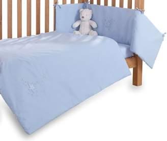 Clair De Lune Starburst Cot/Cot Bed Quilt and Bumper Set (2 Pieces, White)