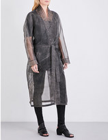 Boris Bidjan Saberi Hand-dyed silk-organza robe