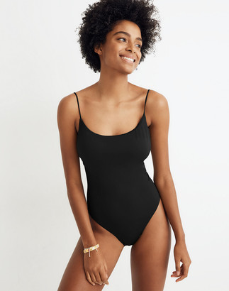 Madewell Second Wave Spaghetti-Strap One-Piece Swimsuit