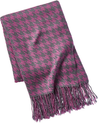 A & R Cashmere Houndstooth Cashmere & Wool-Blend Throw