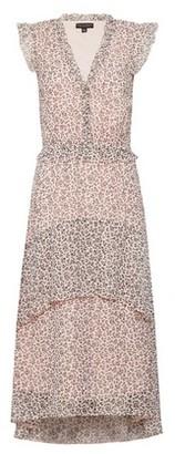 Dorothy Perkins Womens Blush Ditsy Print Chiffon Midi Dress