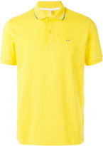 Sun 68 contrast logo polo shirt - men - Cotton/Spandex/Elastane - M