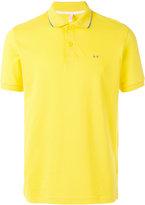 Sun 68 contrast logo polo shirt