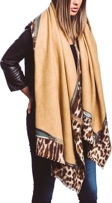 Barrington Women's Accent Scarves CAMEL - Camel & Brown Leopard-Trim Scarf - Women