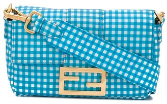 Fendi gingham Baguette crossbody bag