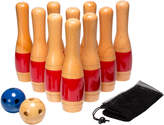 Trademark Hey Play 11 Inch Wooden Lawn Bowling Set