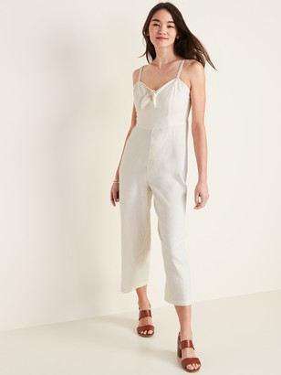 Old Navy Tie-Front Linen-Blend Cami Jumpsuit for Women