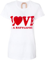 No.21 Love is a Battlefield T-shirt - women - Cotton - 38