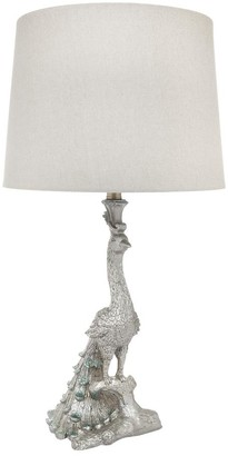 Cafe Lighting Peacock Table Lamp Antique Silver