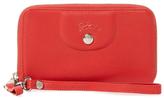 Longchamp Leather Zip Around Wristlet