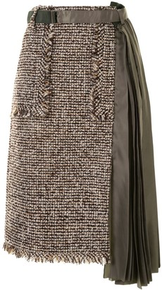 Sacai Contrast Tweed Skirt